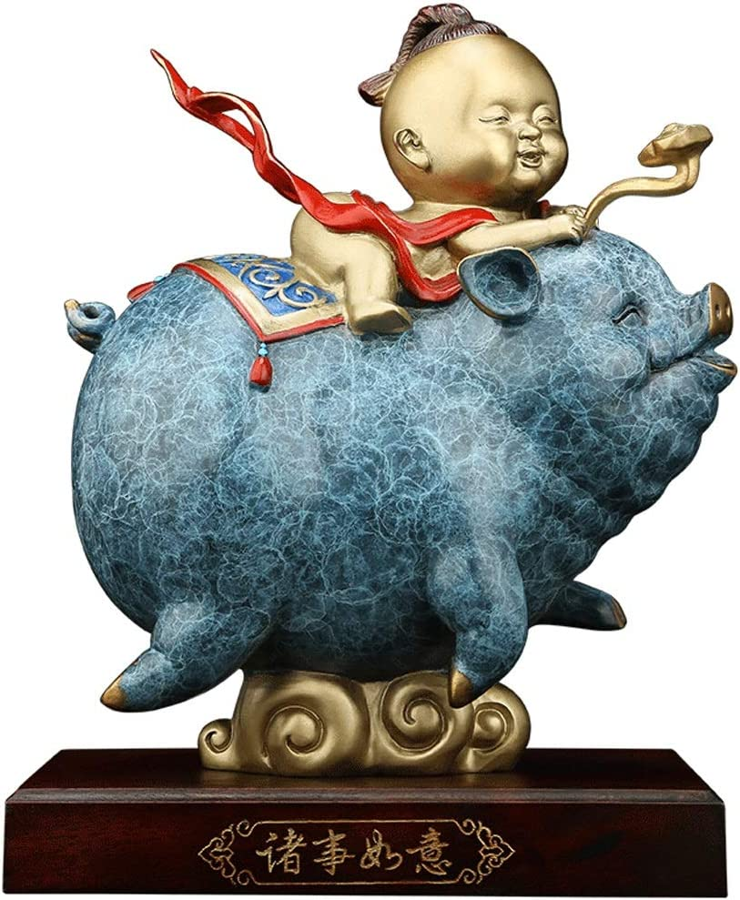Xuejuanshop Feng 100% quality warranty Shui Sales results No. 1 Statue Wealth Chinese Lucky Figurine Zodia