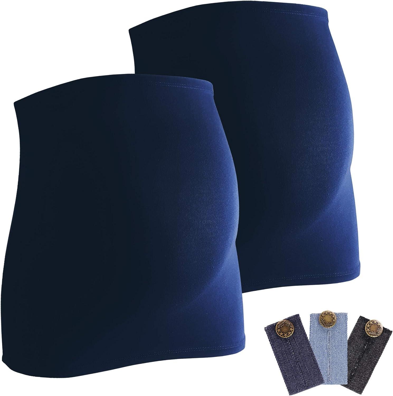 confezione da 3 di espansori per jeans scaldaschiena e copriaddome per donne incinte Mamaband fascia addominale per gravidanza fascia elastica
