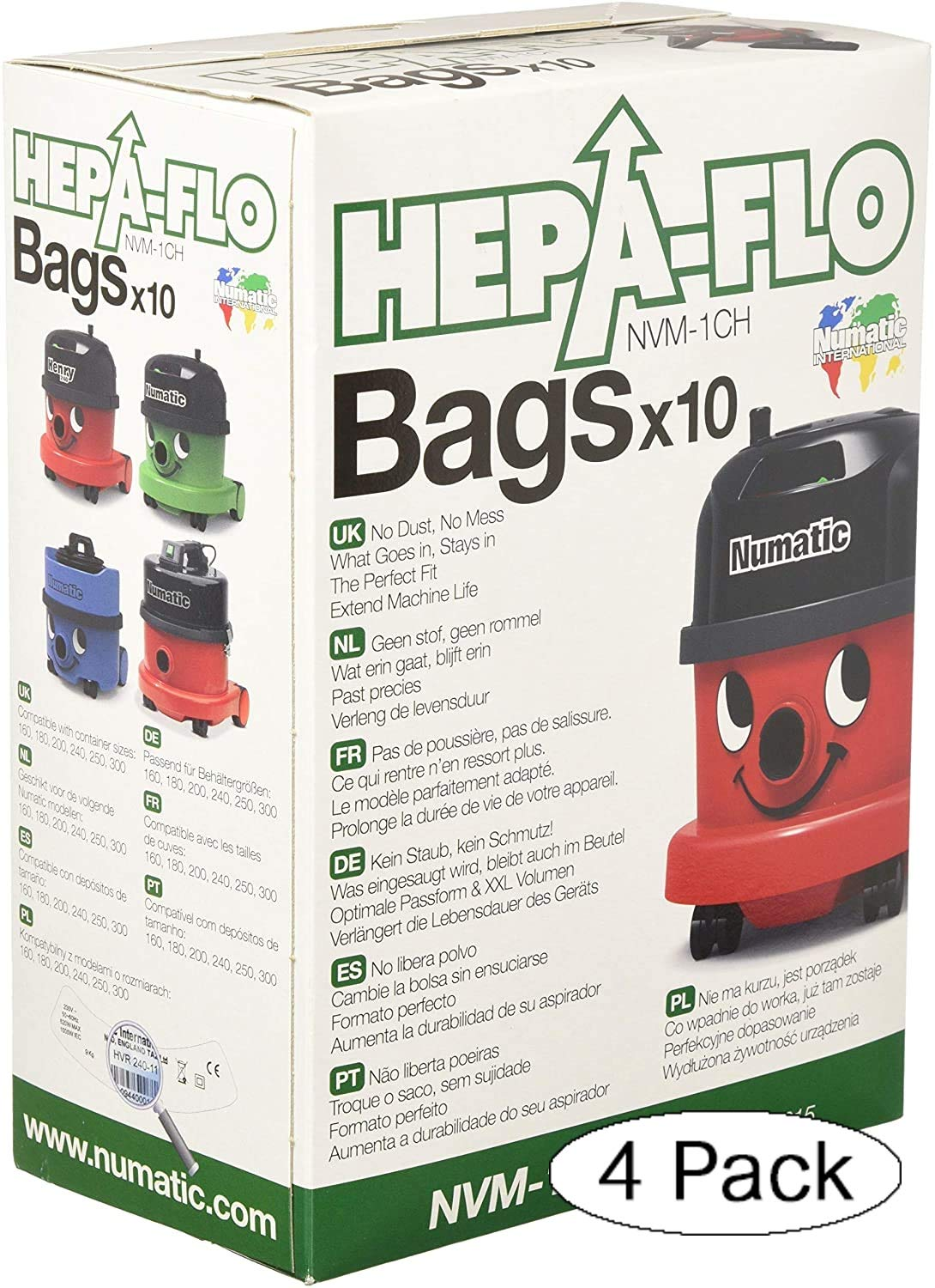 Paper Dust Bags for Numatic Henry Hoover Vacuum Cleaner by henry hetty james
