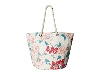Roxy Sunseeker Tote (Ivory Cream/New Flowers) Bags