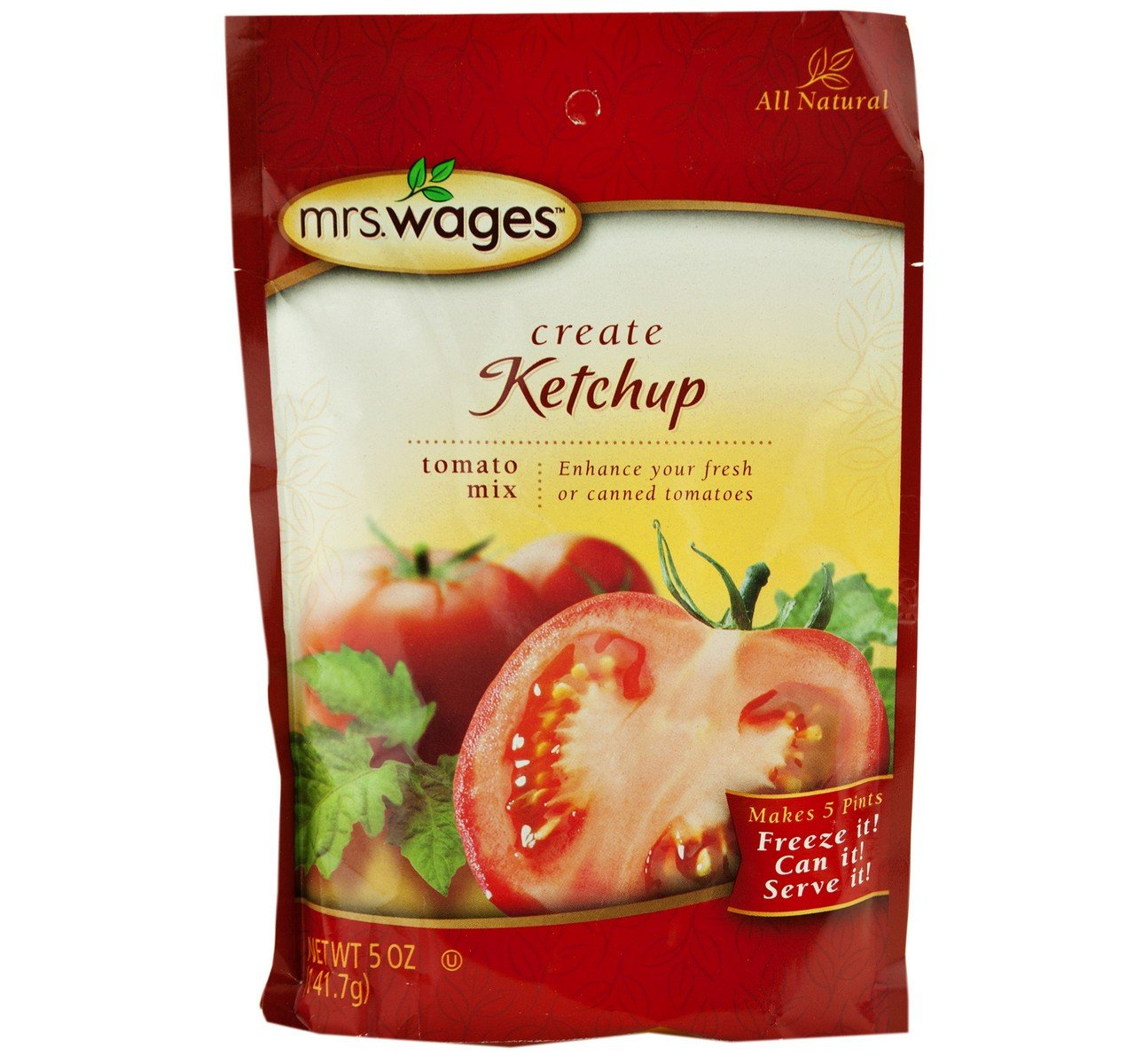 Mrs. Wages Ketchup Tomato Seasoning Deluxe Mix Pouch Oz. 5 2 of Pack sale