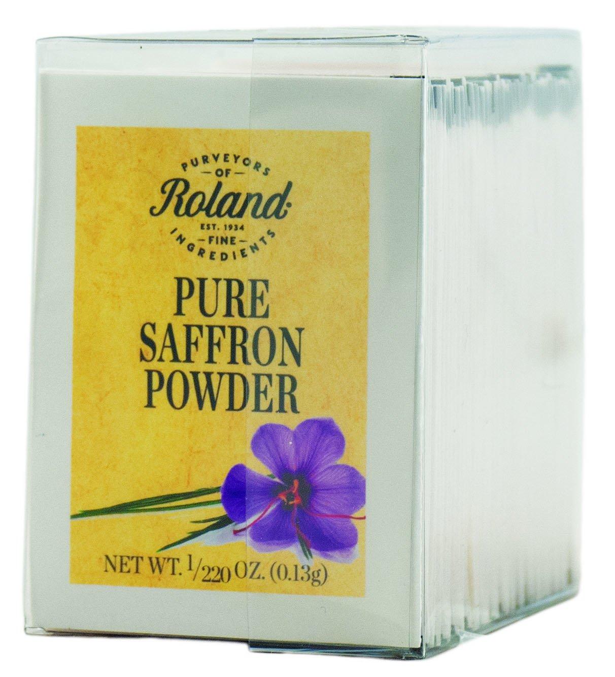 Popular shop is the lowest price challenge Roland Pure Saffron Today's only Powder 50 Envelopes 0.13g 220 1 Net Oz Wt.