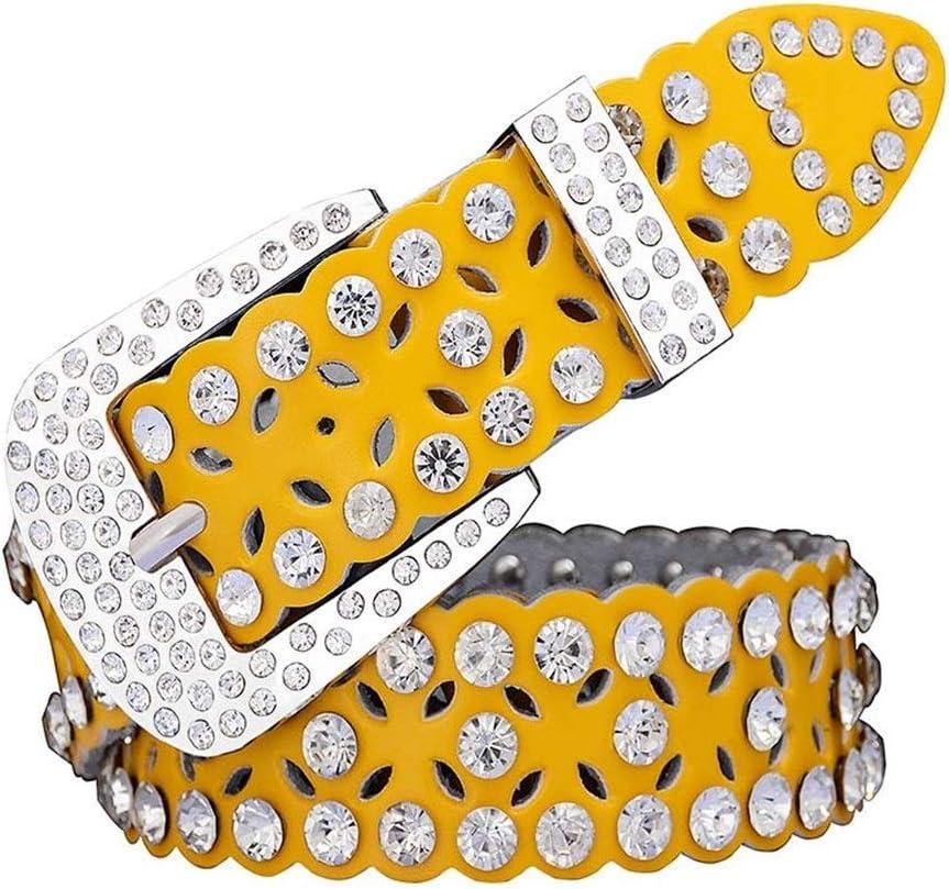 Popular overseas AOSUAI Fashion Rhinestone Cow Genuine Belts Women for Leather Lu Ranking TOP13