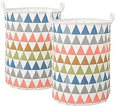 2sets Linen Large Capacity Storage Basket Toys Laundry Cartoon Storage Basket Folding Bucket Dirty Clothes Sundry Dirty Ba...