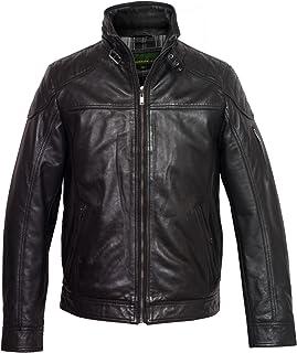 HIDEPARK Mac: Men's Black Leather Jacket