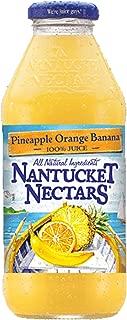 Nantucket Nectars Pineapple Orange Banana Juice Drink, 16 fl oz (12 Glass Bottles)