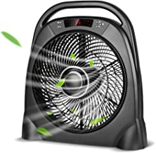 Air Choice Remote Floor 12 Inch Quiet Table Fan with Adjustable Speeds & Automatic Shutoff Timer, Sleep & Powerful Modes, Black