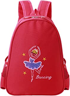 Toddler Backpack Ballet Dance Bag 9 Colors for Girls 2-8 Year (Red)