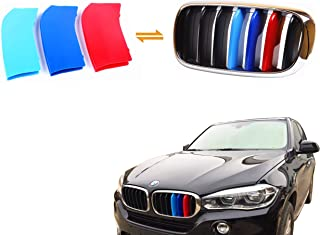 Jackey Awesome Exact Fit ///M-Colored Grille Insert Trims for 2014-2015 BMW F15 X5, 2015 F16 X6 Center Kidney Grill (for BMW 2014-2017 X5, 2015 X6)