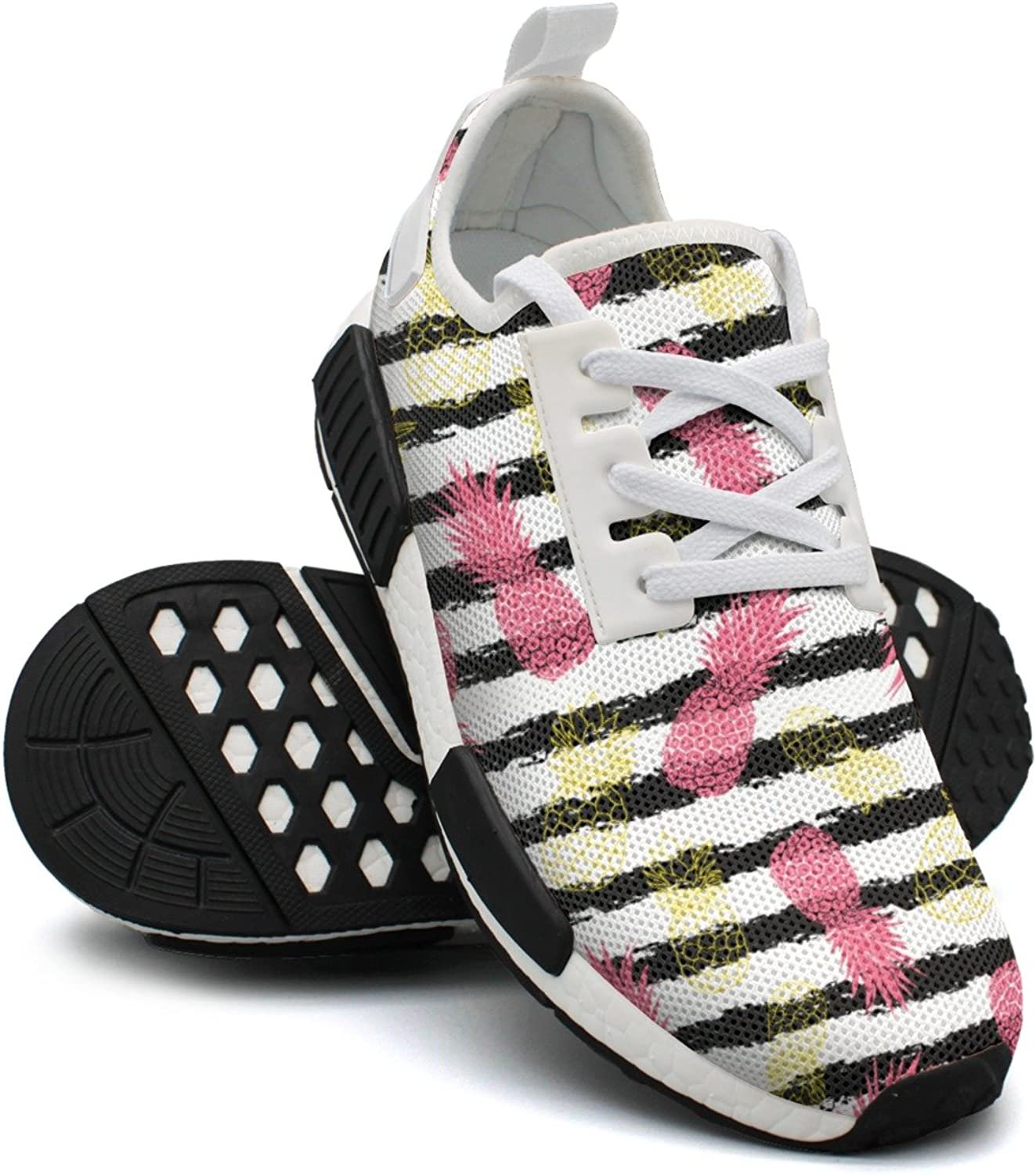 Vintage Grunge Pink And Yellow Pineapples Running shoes Women Nmd Gym Running shoes