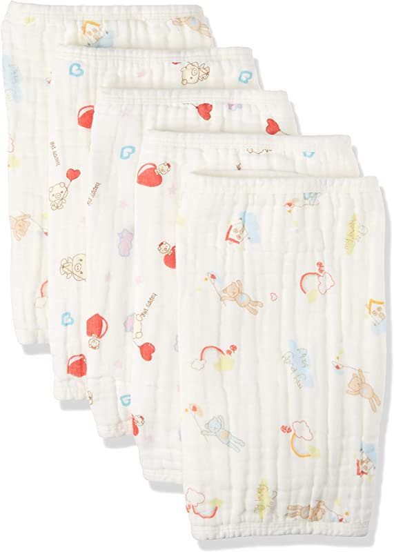Muslin Baby Burp Cloths 5 Pack Soft And Absorbent Organic Cotton Boy Or Girl
