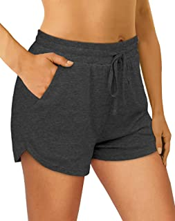 OFEEFAN Womens Athletic Shorts Running Dolphin Shorts with Pockets and Drawstring
