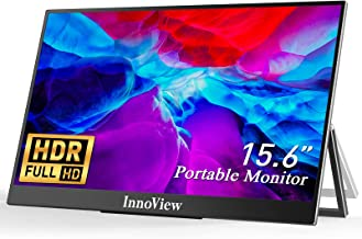 """Portable Monitor, Ultra Slim Portable Monitor for Laptop HDMI USB C, InnoView 15.6"""" FHD 1080P HDR IPS Screen 178°Full Vie..."""