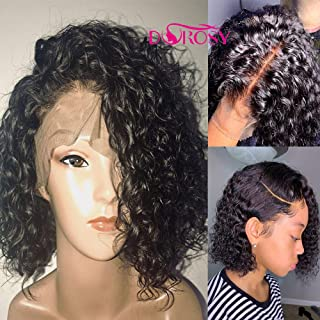 Dorosy Hair Full Lace Human Hair Wigs for Black Women 150% Density Remy Hair with Natural Hairline Curly Hair with Baby Hair(16 inch with 150% density)