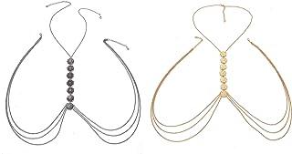 Femnmas Golden & Silver Combo Coin Body Chain for Girls