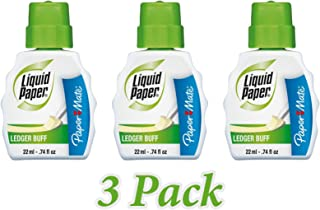 Paper Mate Correction Fluid, 22ml, Ledger Buff (PAP5660115) (3-Pack)