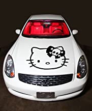 Car Hood Vinyl Sticker Graphics Hello Kitty with Bow and Skull G215