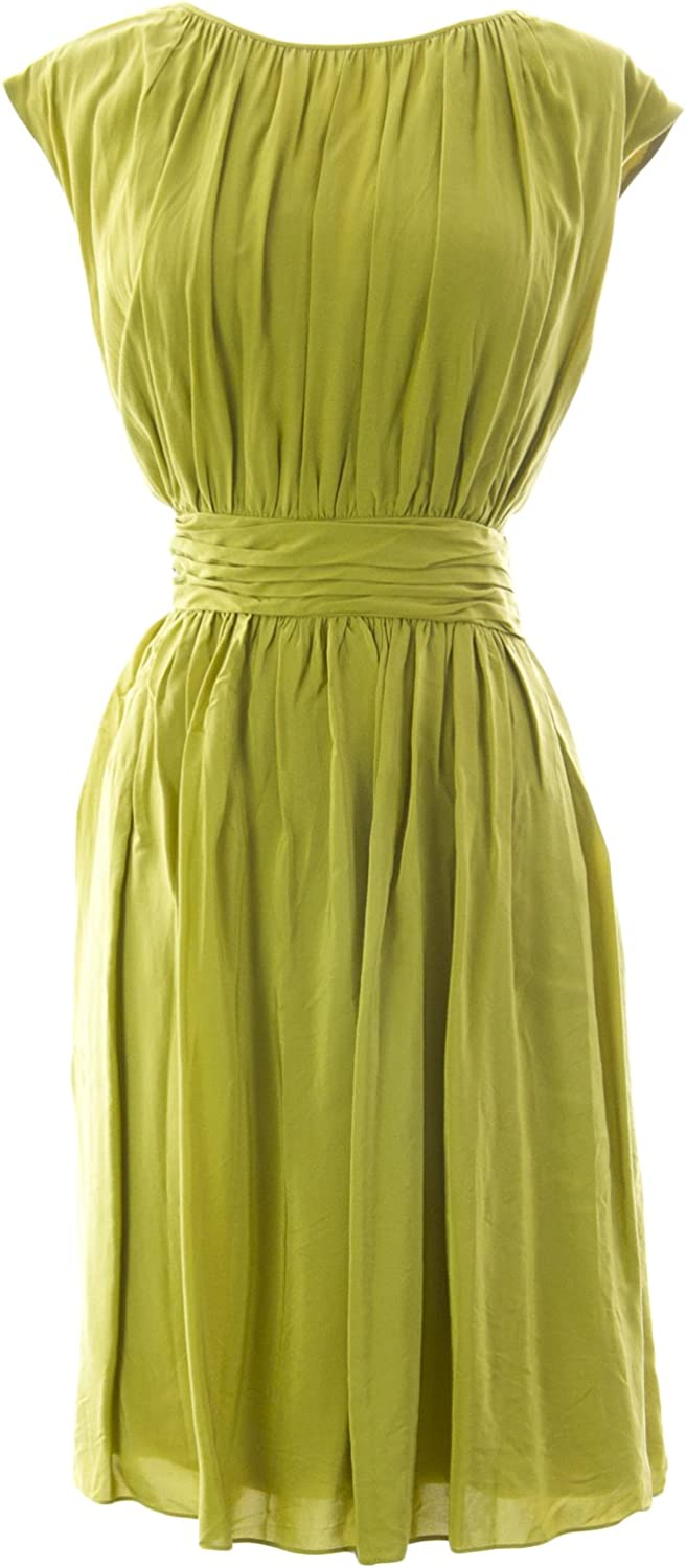 BODEN Women's Selina Dress US Sz 12R Light Olive