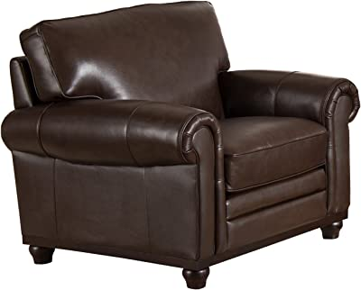 Coja by Sofa4life Georgetown Leather Chair, Brown