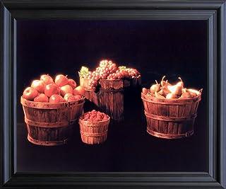 Black Grape Still Life Fruit Kitchen Wall Decor Art Barnwood Framed Picture