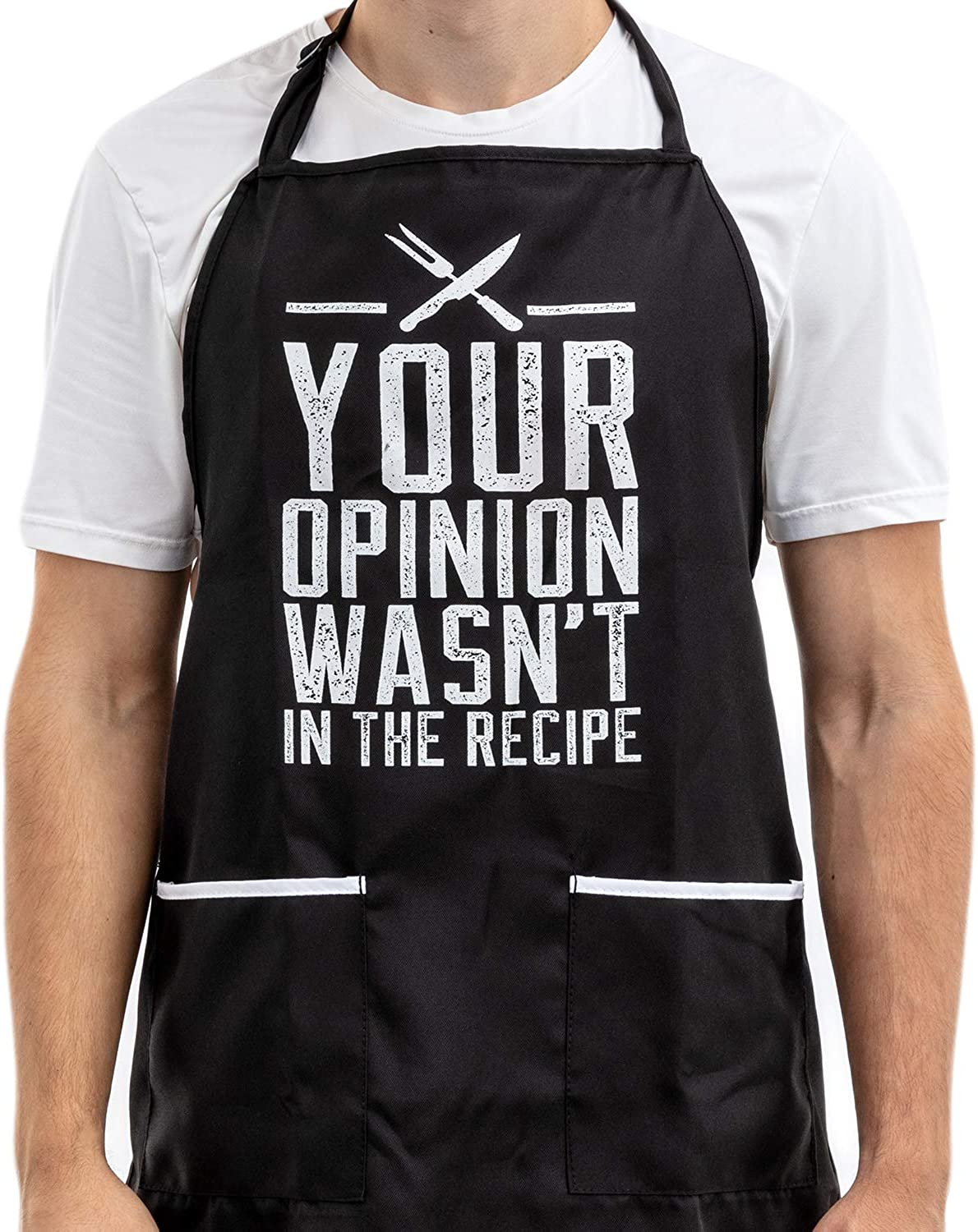 Funny Mail order Apron for Women and Men with Opinio - Your Max 86% OFF 2 Pockets Large