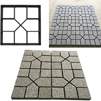 Pathmate Stone Mold Paving Pavement Concrete Mould Stepping Stone Paver Walk Way for Garden Yard SuperThinker DIY Walk Maker 16x16 Patio