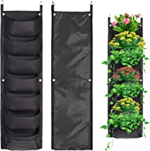 Pockets Vertical Wall Garden Planter Plant Grow Bag for Flower Vegetable for Indoor/Outdoor and Herbs Flowers Yard Decorat...