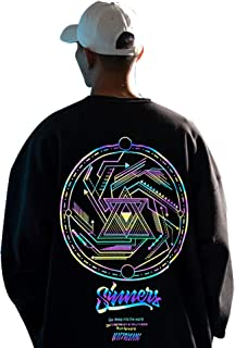 XYXIONGMAO Japanese Trend Pattern Round Neck Sweatshirt Couple Hip-Hop Hoodie Oversized Hoodies Men Street Sweater
