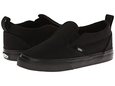 Vans Kids Slip-On V (Infant/Toddler) (Black/Black) Kids Shoes