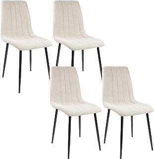 Albatros Silla de Comedor Garda, Set de 4 sillas, Beige, certificadas por la SGS