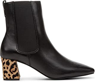 Matisse Womens Off Duty Leopard Cheetah Animal Print Ankle Boots Booties Black