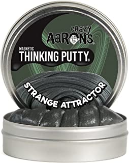 Crazy Aaron's Strange Attractor Thinking Putty, Super Magnetic Thinking Putty Plus Magnet