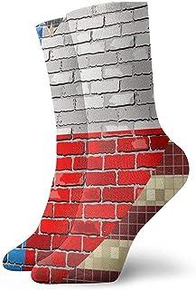 Novedad Funny Crazy Crew Sock USA y Texas Flags Sport Impreso Calcetines deportivos Calcetines de regalo personalizados de 30 cm de largo