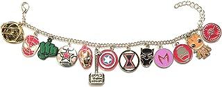 giulyscreations Bracciale Metallo Nichel Free Avengers Supereroi Comics Fumetti Manga Anime Thor Iron Man Captain America ...