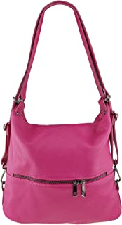 Freyday 2in1 Rucksackhandtasche Designer Damen Handtasche Henkeltasche 100% Echtleder