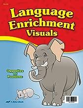 Language Enrichment Visuals - Abeka 4 to 5 Year Old Kindergarten Language Development Flashcards