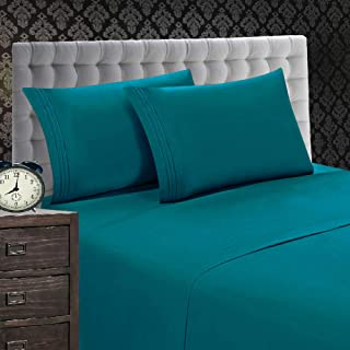 Elegant Comfort 1500 Thread Count Luxury Egyptian Quality Wrinkle and Fade Resistant 4-Piece Sheet Set, California King, T...