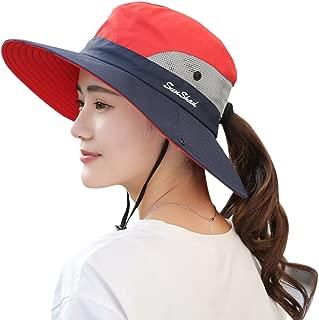 Muryobao Women's Summer Sun UV Protection Hat Foldable Wide Brim Boonie Hats Beach Safari Fishing