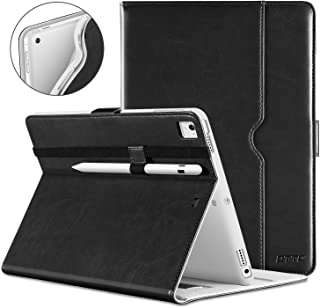 DTTO iPad 9.7 Inch 5th/6th Generation 2018/2017 Case with Apple Pencil Holder, Premium Leather Folio Cover Case for Apple iPad 9.7 inch [Auto Sleep/Wake], Also Fit iPad Pro 9.7/Air 2/Air - Black