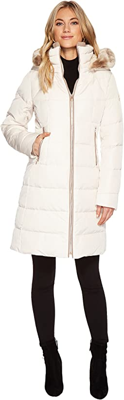 Vince Camuto - Faux Fur Trim Hooded Down N1991