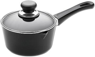SCANPAN 10001200 Saucepan, 16 centimeters Black/Clear