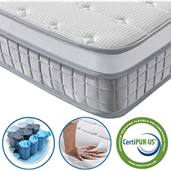 Vesgantti 3FT Single Mattress, 9.6 Inch Pocket Sprung Mattress Single with Breathable Foam and Individually Wrapped Spring - Medium Firm Feel, Modern Box Top Collection