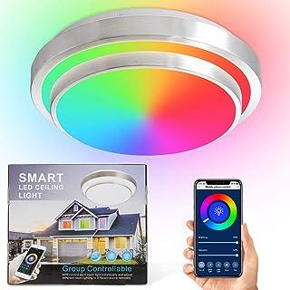 Smart Ceiling Light,Smart Lighting,Alexa Ceiling Light,LED Ceiling Light Fixture Color Alexa Enabled Ceiling Light Fixtur...