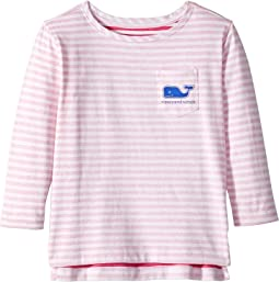 Long Sleeve Stripe Whale Pocket T-Shirt (Toddler/Little Kids/Big Kids)