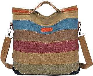 حقيبة قماش متعدد الألوان للنساء - حقائب كبيرة توتس