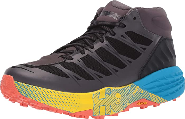 Trail Running Shoes Mountain Hoka One One Speedgoat mid Chinese Red//Carribean