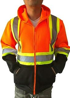 SIZE XLARGE Hi Viz High Visibility 2TONE Jacket Hoodie Work PULL OVER Fleece
