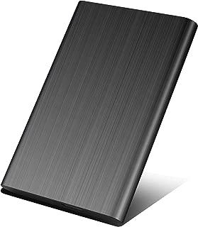 外付けハードディスク 2TB/1TB ポータブル 外付けHDD mac/pc/ps4/tv/xbox 対応 USB3.0/2.0 簡単接続 高速 (2TB, 黒)