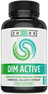 Zhou DIM Active | Menopause & Estrogen Metabolism Supplement with 250mg DIM Plus Broccoli Seed Extract & Bioperine | for W...