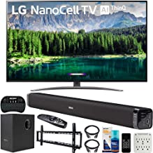 $979 » LG 65SM8600PUA 65-inch 4K HDR Smart LED NanoCell TV with AI ThinQ (2019) Bundle with Deco Gear 60W Soundbar with Subwoofer, Wall Mount Kit, Deco Gear Wireless Keyboard and 6-Outlet Surge Adapter